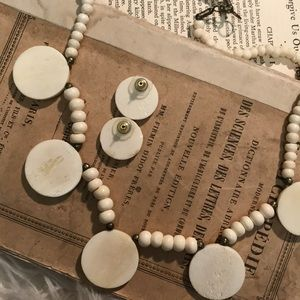 Fossil Woolly Mammoth ivory necklace